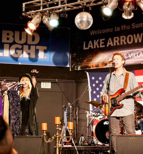 Lisa and Wil singing in Lake Arrowhead 2019