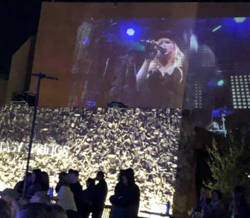 Lisa on big screen at Fantasy Spring Casino March 2019